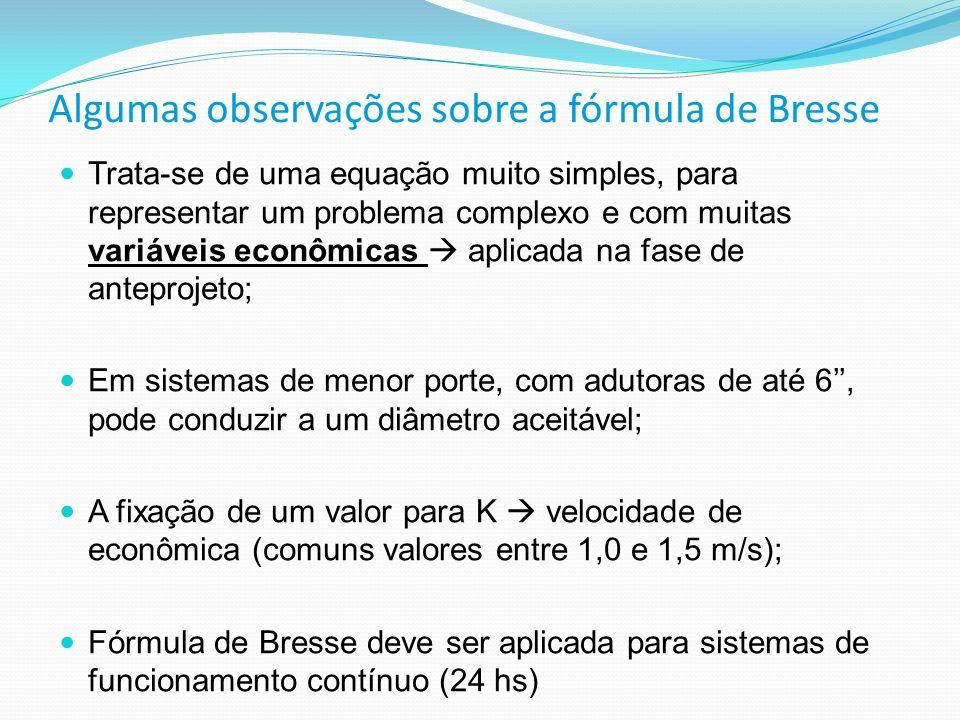 Algumas observações sobre a fórmula de Bresse