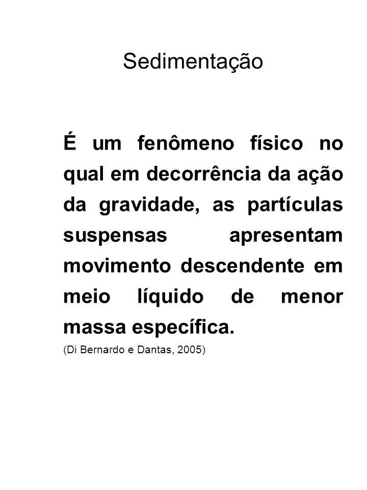 Sedimentação (Di Bernardo e Dantas, 2005)
