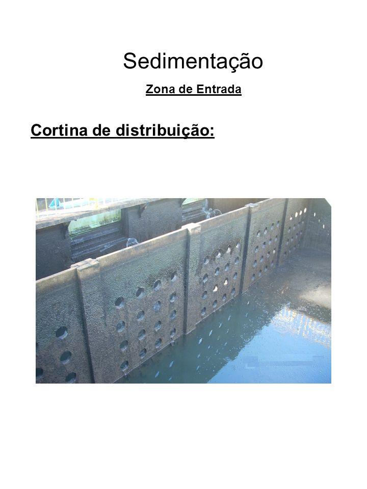 Sedimentação Zona de Entrada Cortina de distribuição: