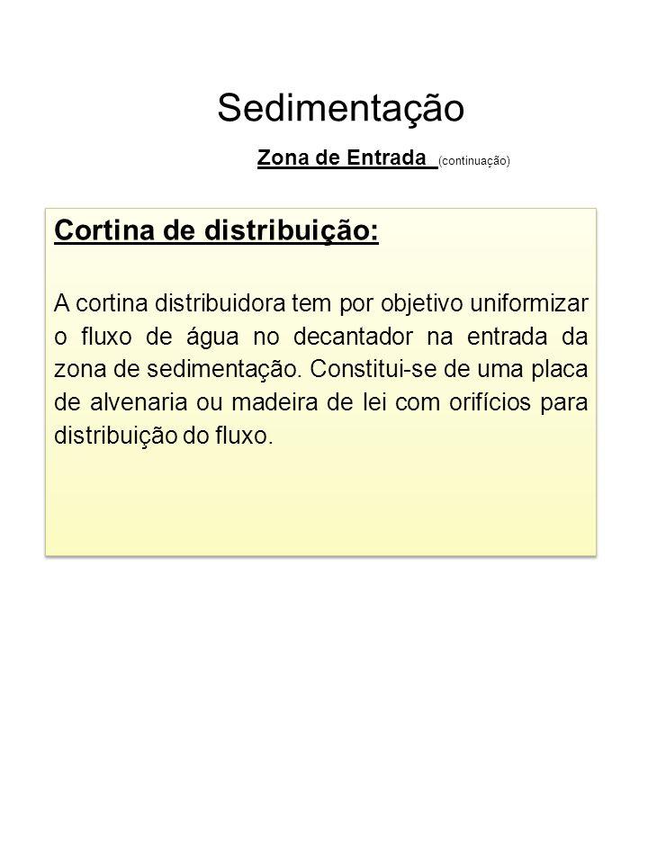 Sedimentação Cortina de distribuição: