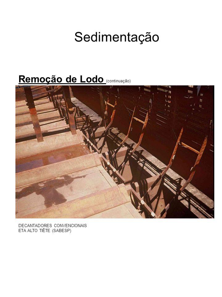 Sedimentação Remoção de Lodo (continuação)