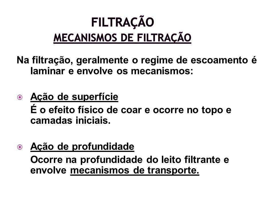 Filtração Mecanismos de Filtração