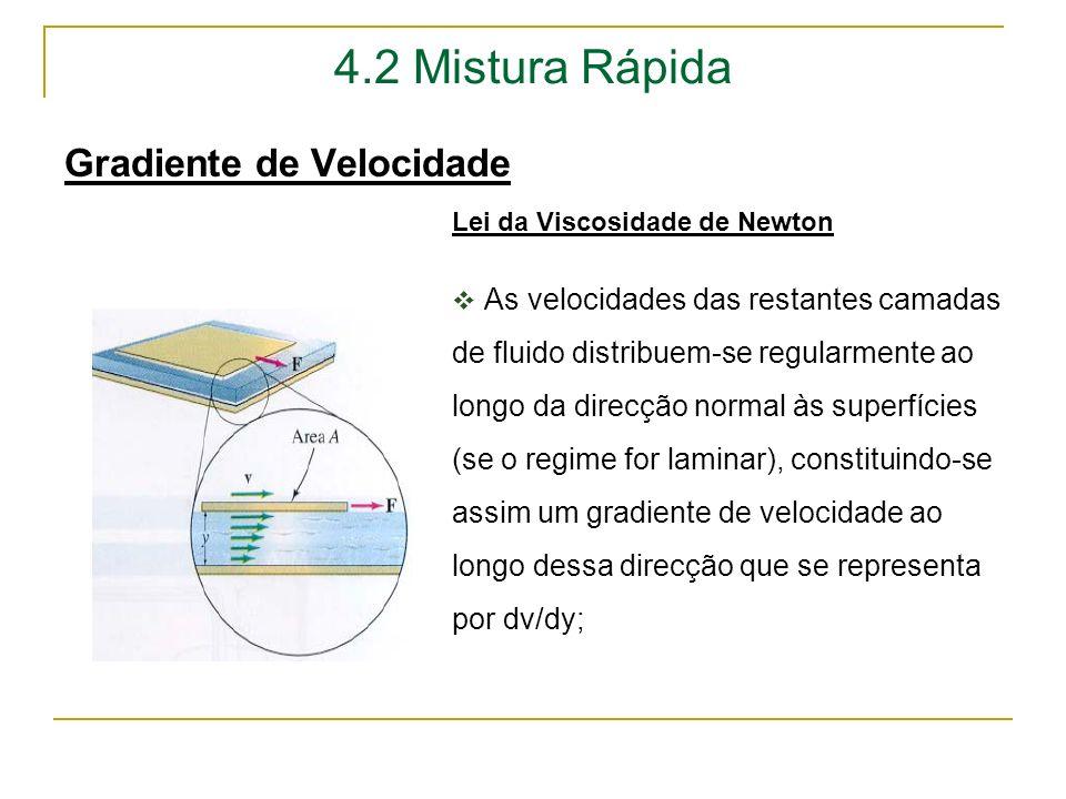4.2 Mistura Rápida Gradiente de Velocidade