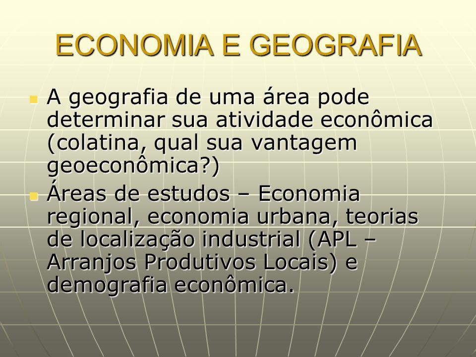 ECONOMIA E GEOGRAFIA A geografia de uma área pode determinar sua atividade econômica (colatina, qual sua vantagem geoeconômica )