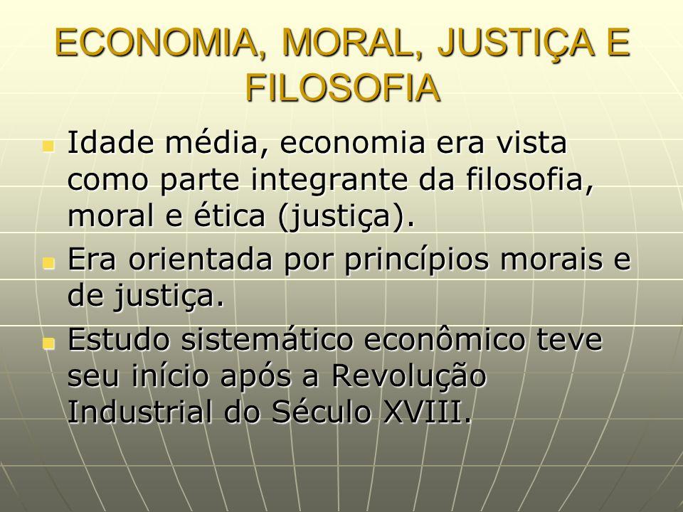 ECONOMIA, MORAL, JUSTIÇA E FILOSOFIA