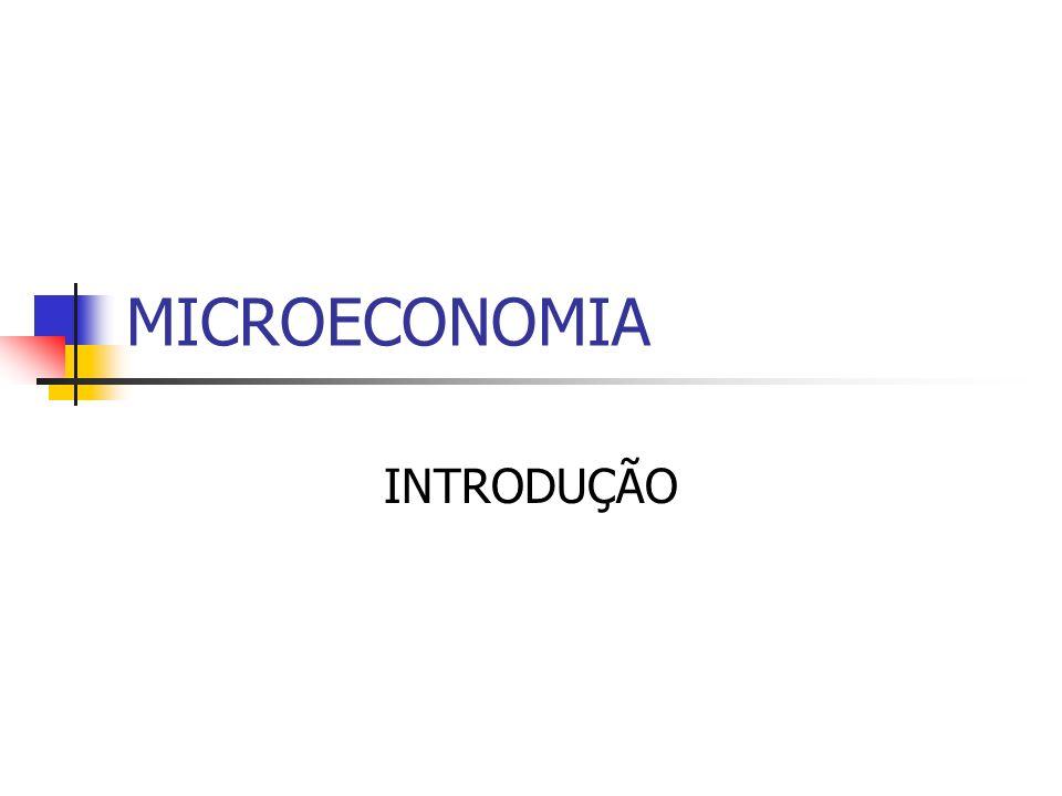 MICROECONOMIA INTRODUÇÃO