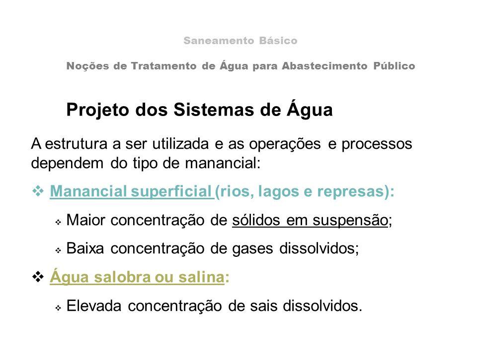 Projeto dos Sistemas de Água