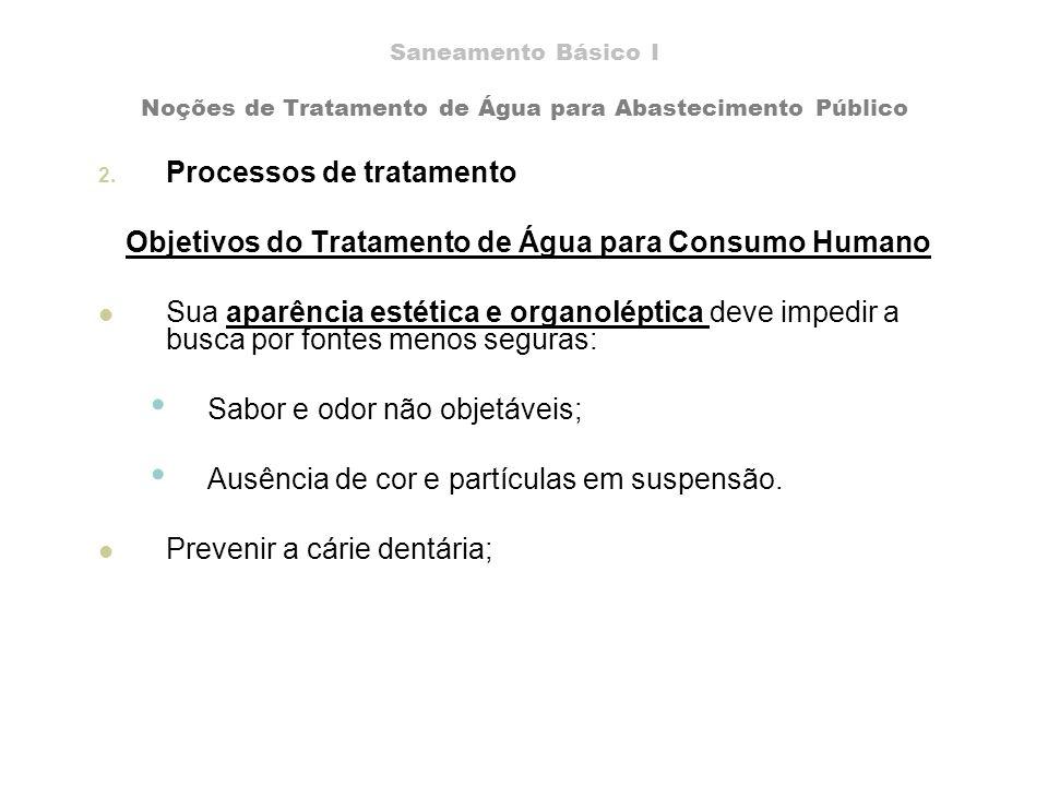 Objetivos do Tratamento de Água para Consumo Humano