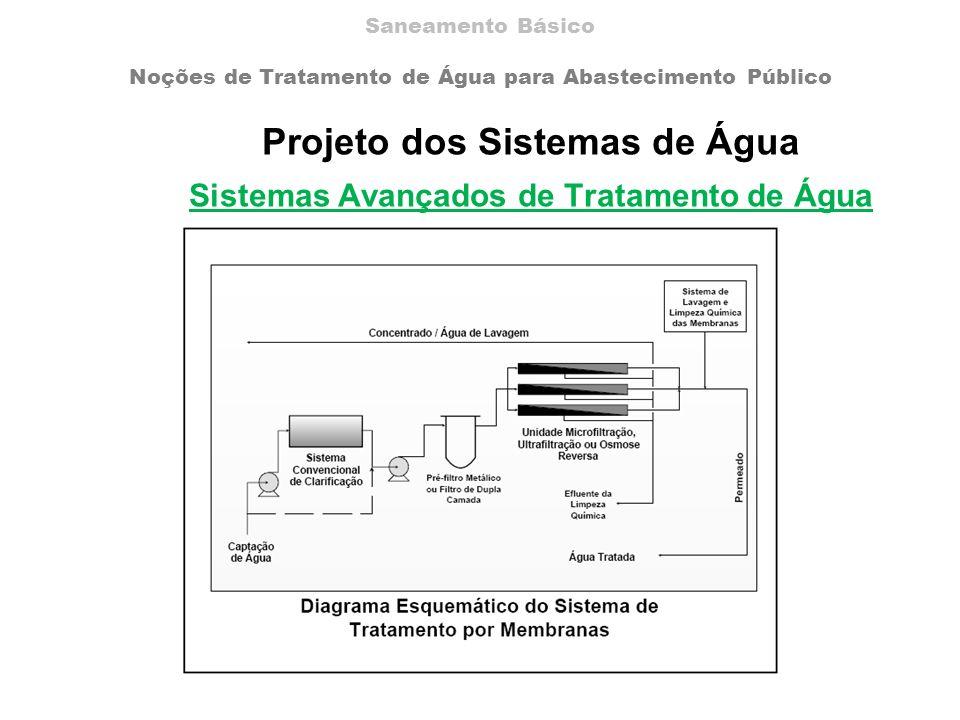 Projeto dos Sistemas de Água Sistemas Avançados de Tratamento de Água