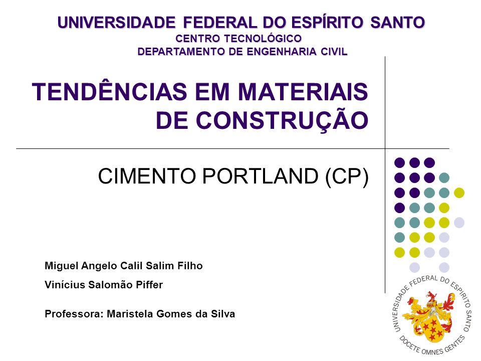 TENDÊNCIAS EM MATERIAIS DE CONSTRUÇÃO