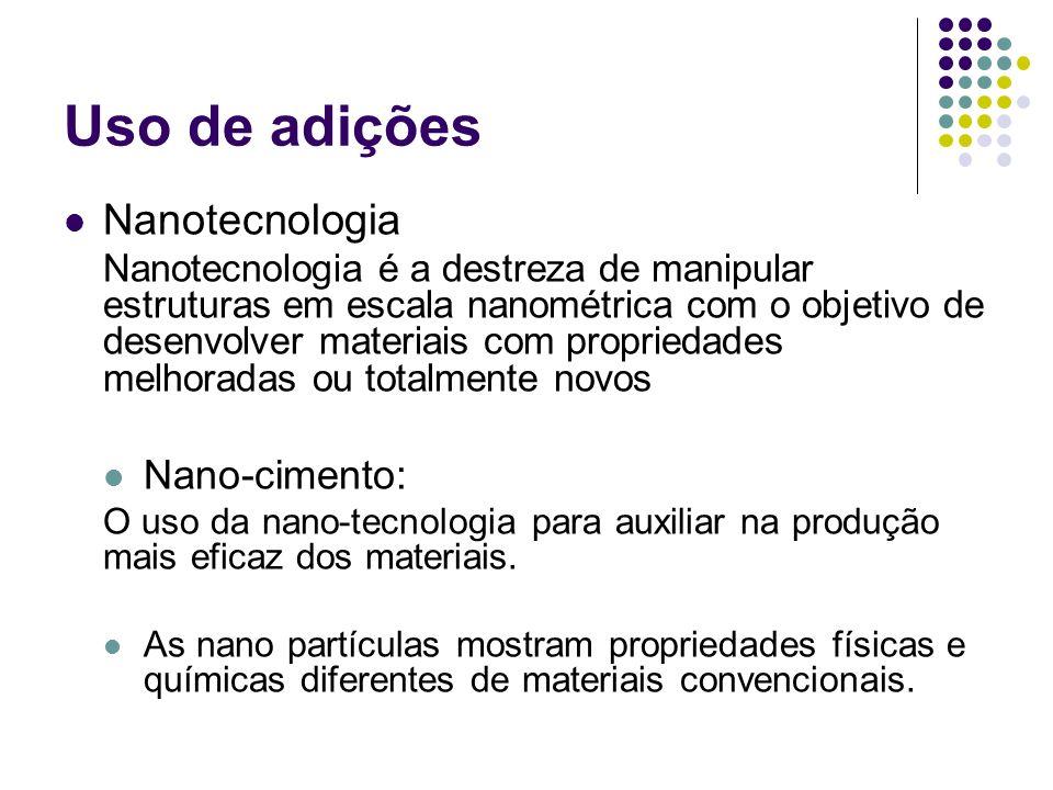 Uso de adições Nanotecnologia Nano-cimento: