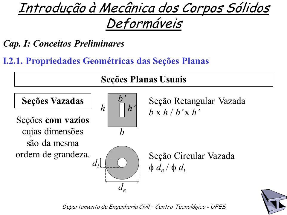 Seções com vazios cujas dimensões são da mesma ordem de grandeza.