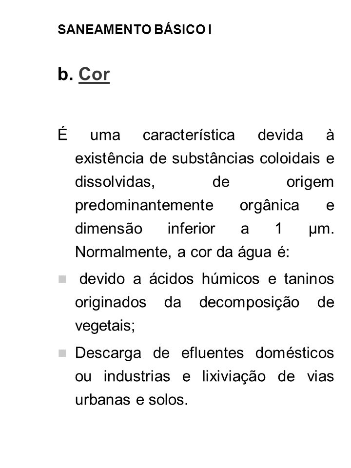 SANEAMENTO BÁSICO I b. Cor.