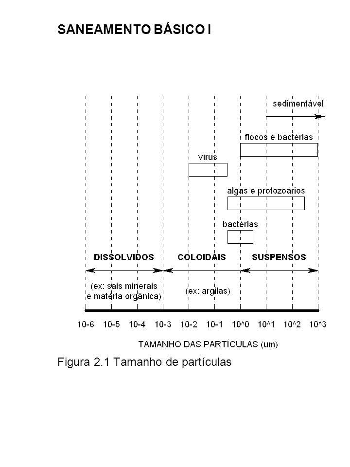 SANEAMENTO BÁSICO I Figura 2.1 Tamanho de partículas