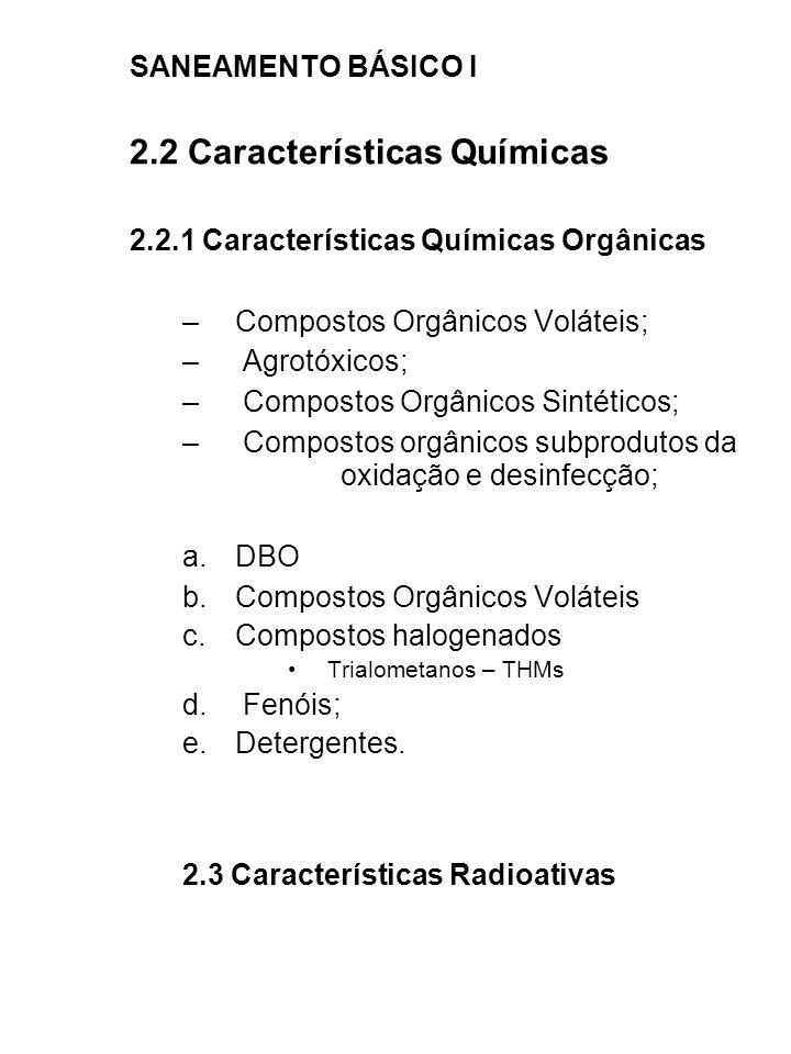 2.2 Características Químicas