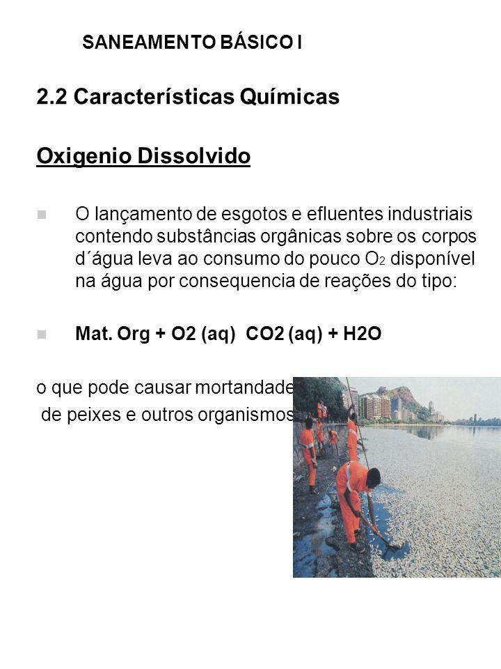 2.2 Características Químicas Oxigenio Dissolvido