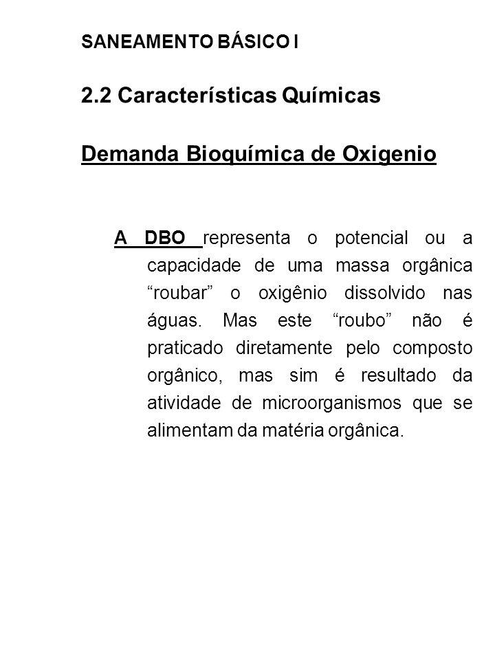 2.2 Características Químicas Demanda Bioquímica de Oxigenio