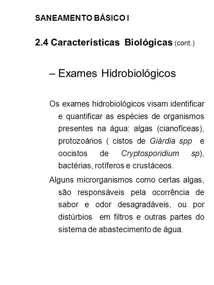 Exames Hidrobiológicos