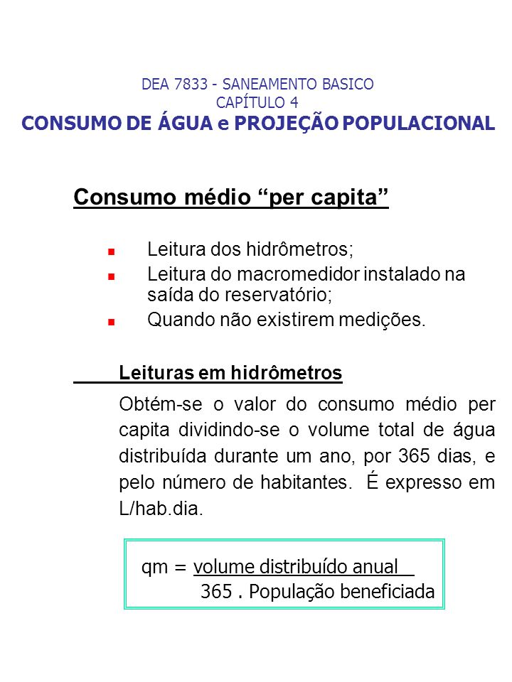Consumo médio per capita