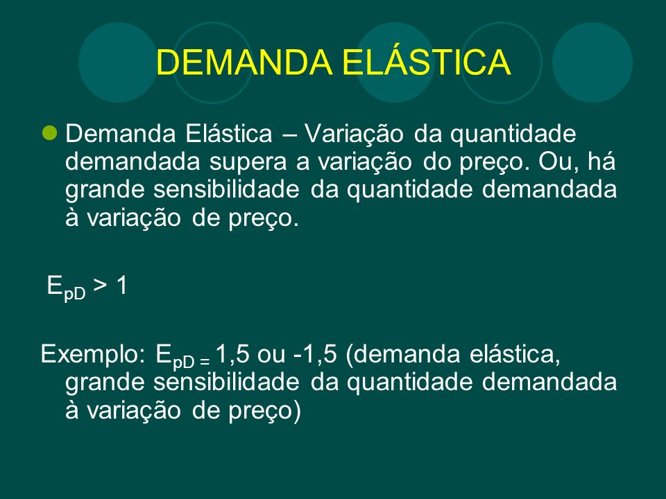 DEMANDA ELÁSTICA