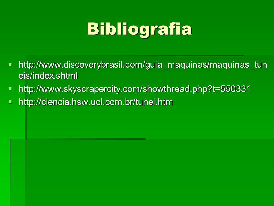 Bibliografia http://www.discoverybrasil.com/guia_maquinas/maquinas_tuneis/index.shtml. http://www.skyscrapercity.com/showthread.php t=550331.