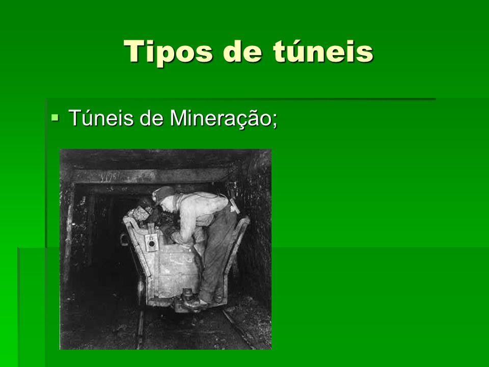 Tipos de túneis Túneis de Mineração;