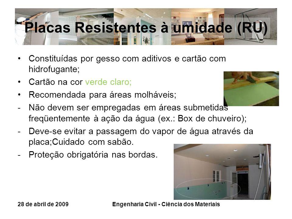 Placas Resistentes à umidade (RU)
