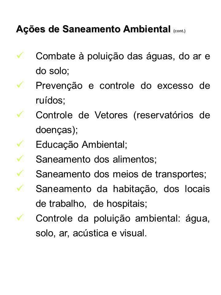 Ações de Saneamento Ambiental (cont.)