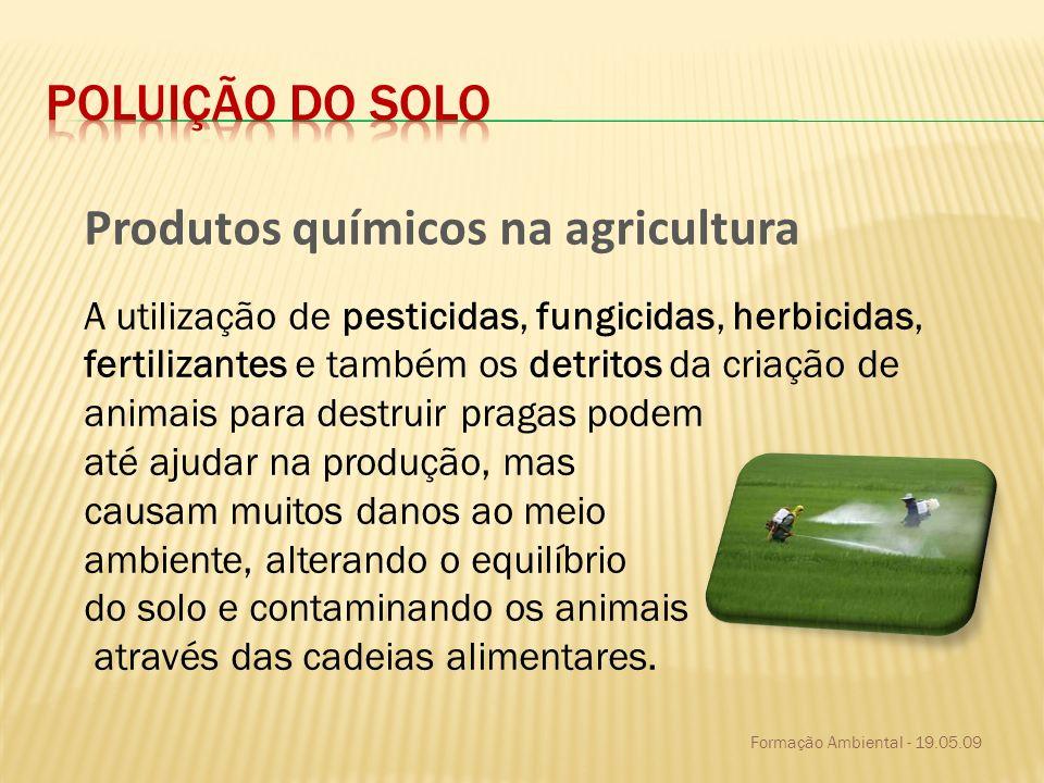 Produtos químicos na agricultura