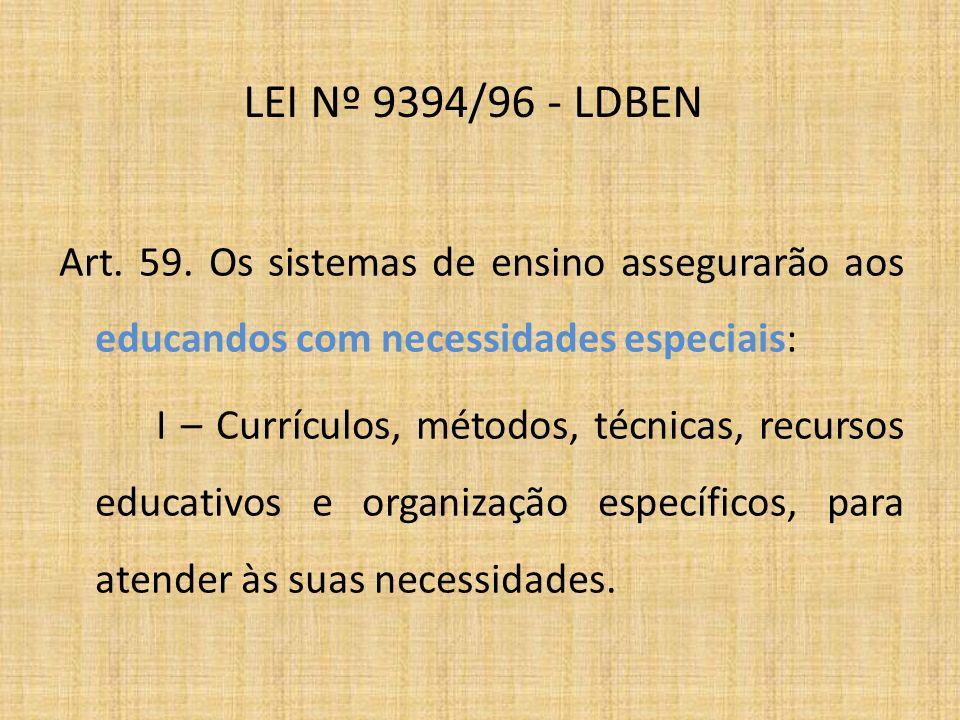 LEI Nº 9394/96 - LDBEN