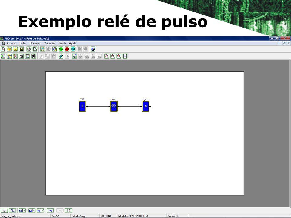Exemplo relé de pulso
