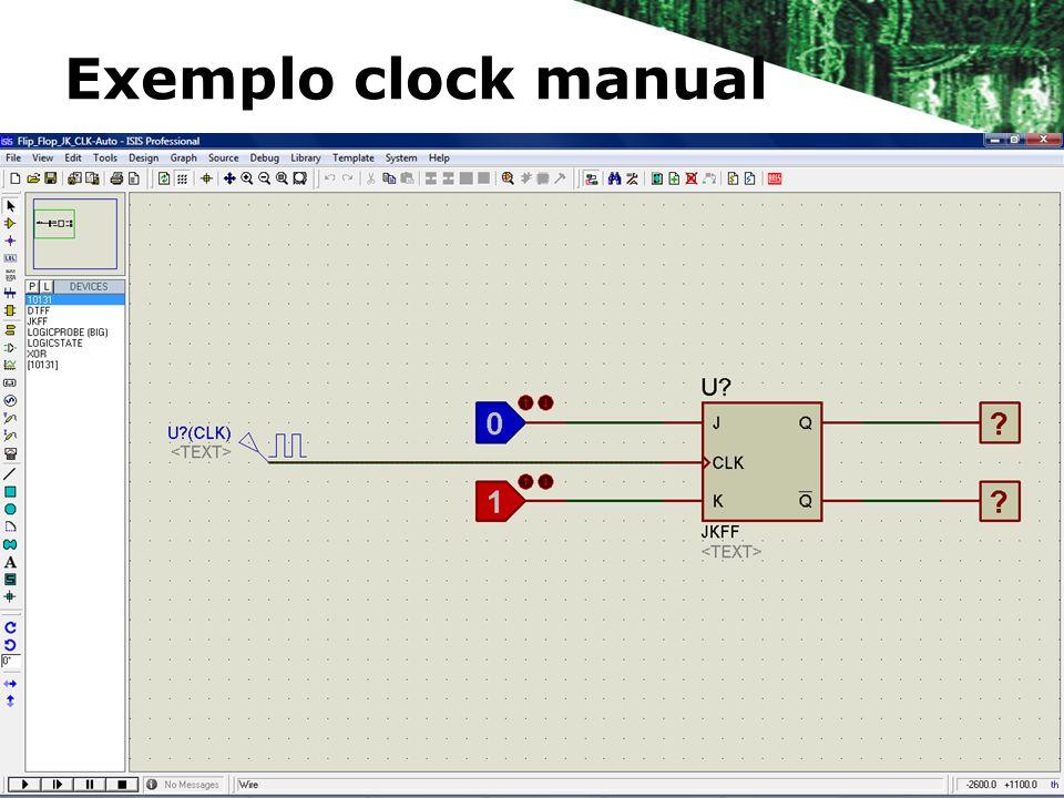 Exemplo clock manual