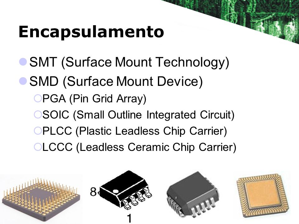Encapsulamento SMT (Surface Mount Technology)