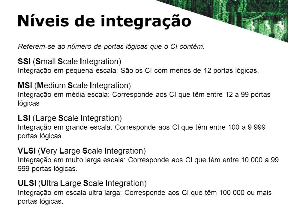 Níveis de integração SSI (Small Scale Integration)
