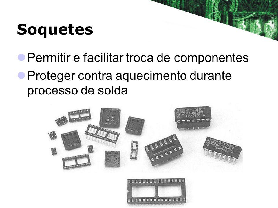 Soquetes Permitir e facilitar troca de componentes
