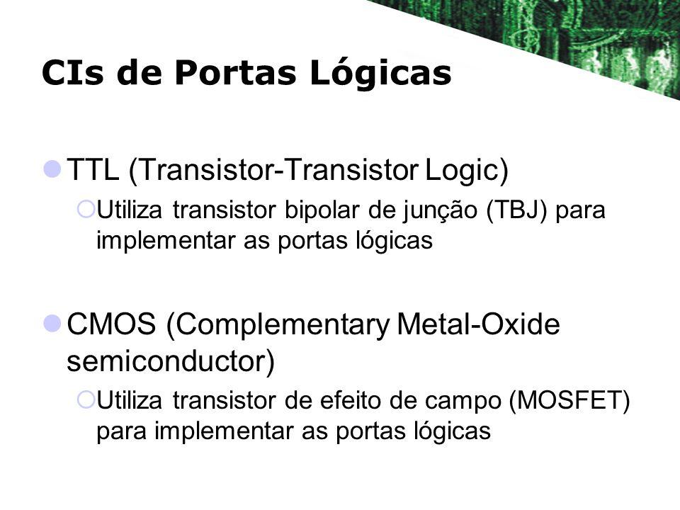 CIs de Portas Lógicas TTL (Transistor-Transistor Logic)