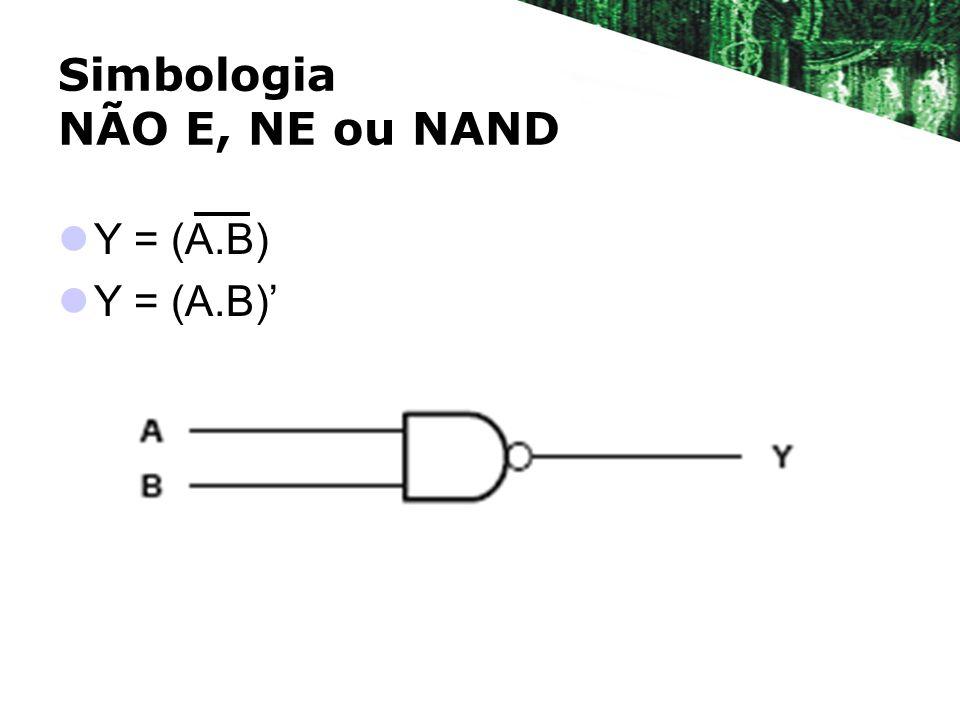 Simbologia NÃO E, NE ou NAND