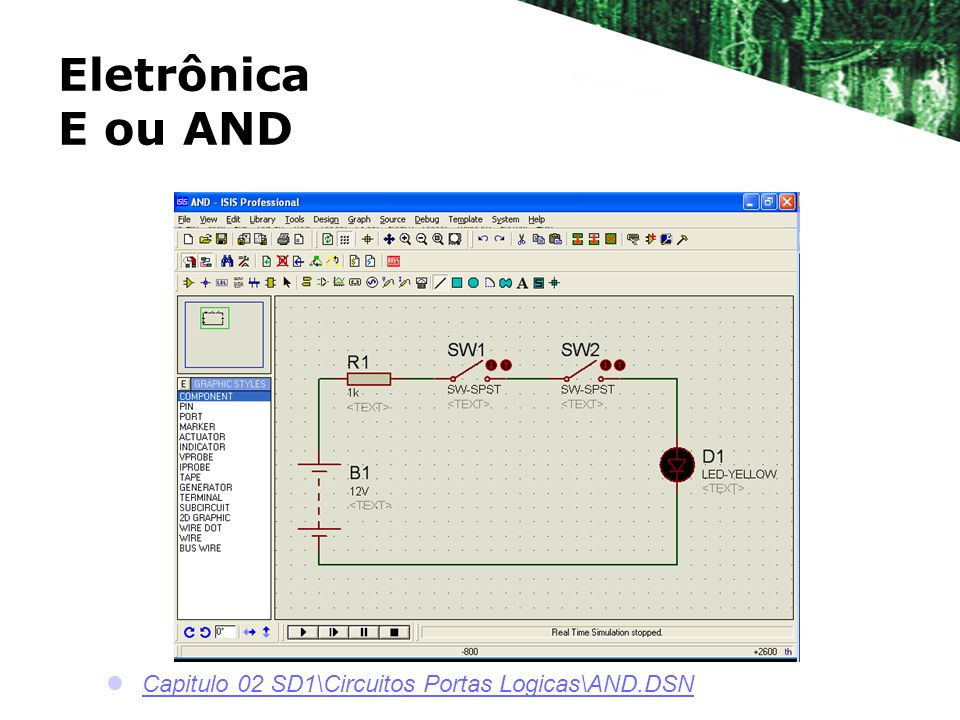 Eletrônica E ou AND Capitulo 02 SD1\Circuitos Portas Logicas\AND.DSN