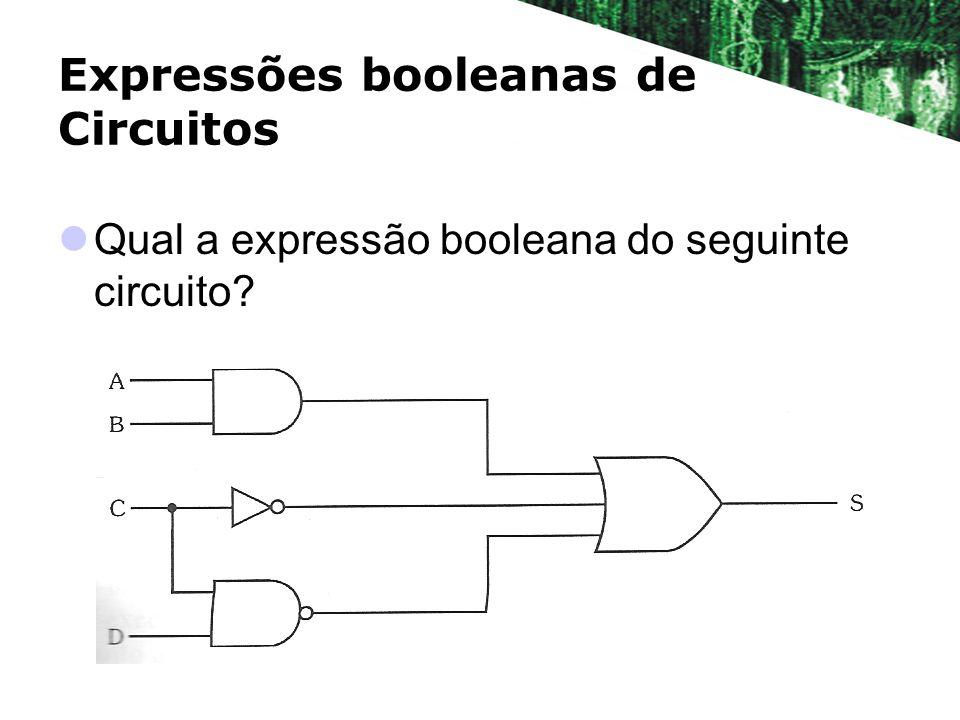 Expressões booleanas de Circuitos