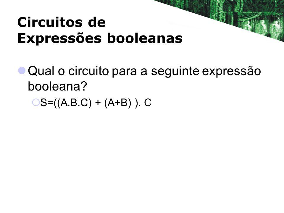 Circuitos de Expressões booleanas