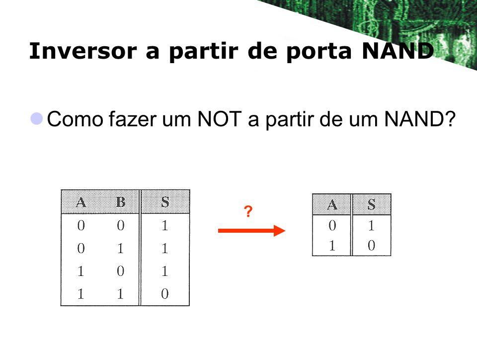 Inversor a partir de porta NAND