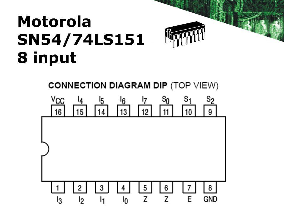 Motorola SN54/74LS151 8 input