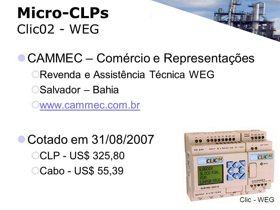 Micro-CLPs Clic02 - WEG CAMMEC – Comércio e Representações