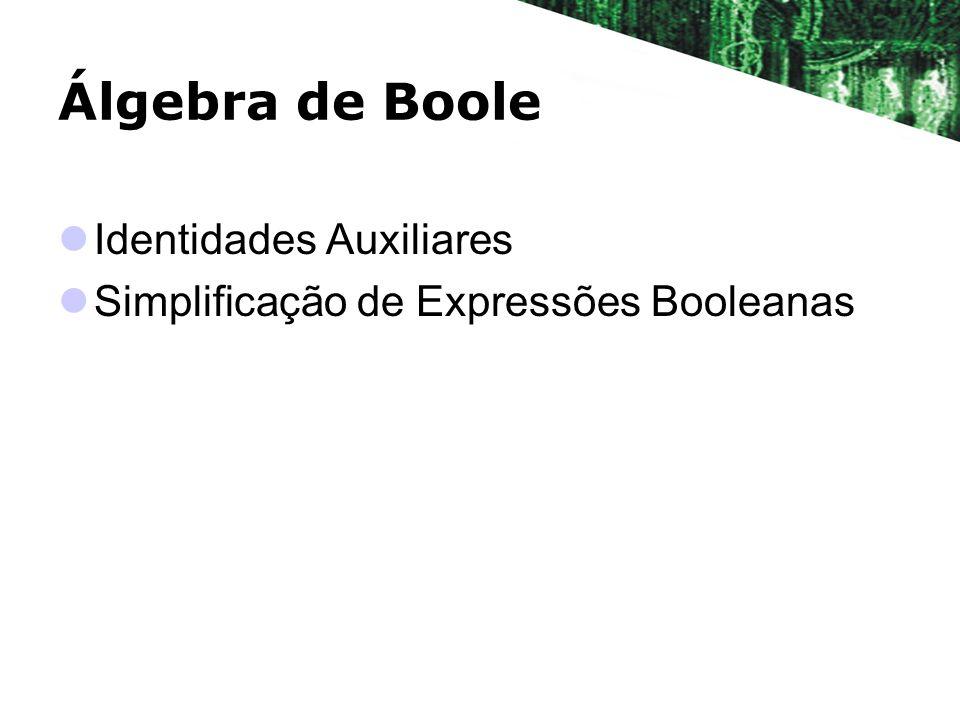 Álgebra de Boole Identidades Auxiliares