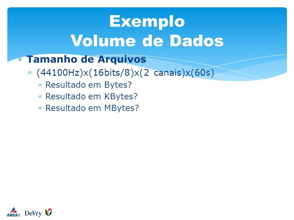 Exemplo Volume de Dados