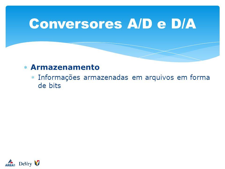Conversores A/D e D/A Armazenamento