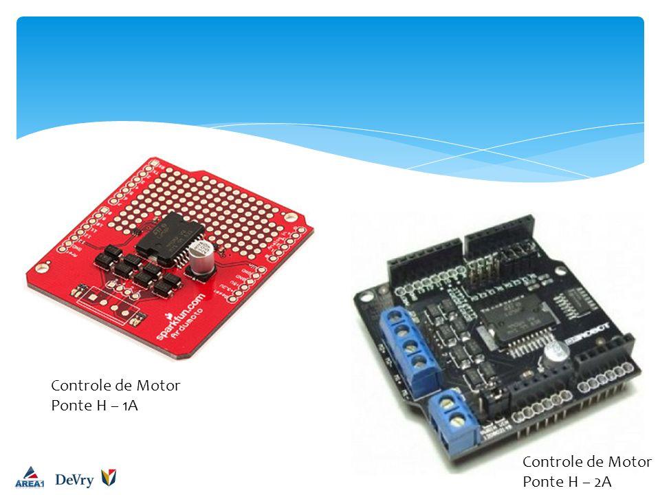 Controle de Motor Ponte H – 1A Controle de Motor Ponte H – 2A