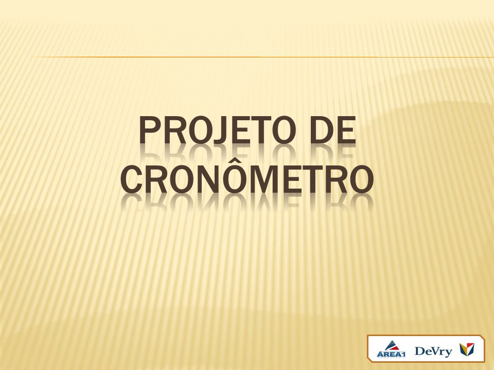 Projeto de Cronômetro