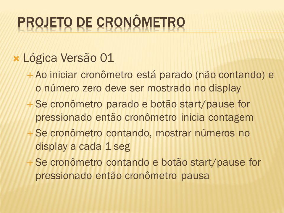 Projeto de Cronômetro Lógica Versão 01