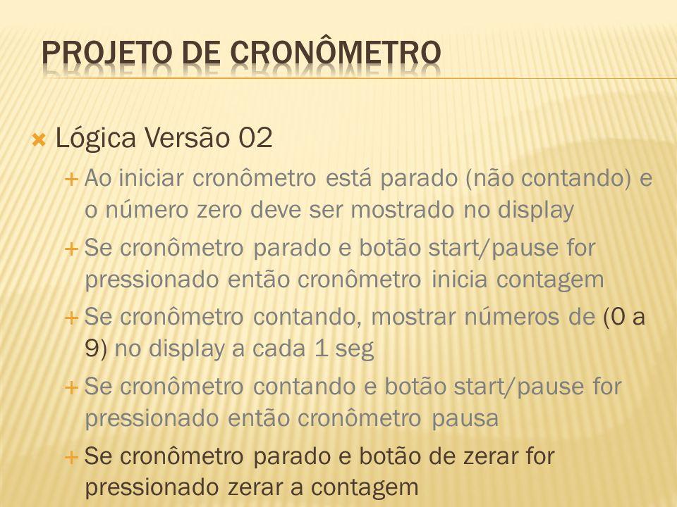 Projeto de Cronômetro Lógica Versão 02